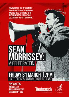 """Poster for the """"Sean Morrissey: a celebration event"""""""