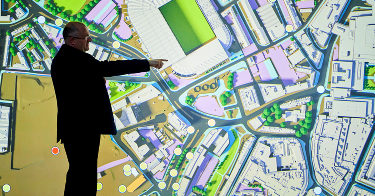 Visualisation of data from Newcastle upon Tyne city centre