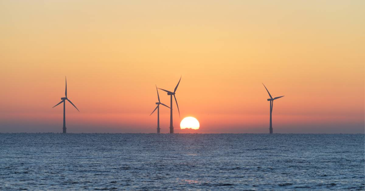 Offshore Scroby Sands Wind Farm in the North East of England