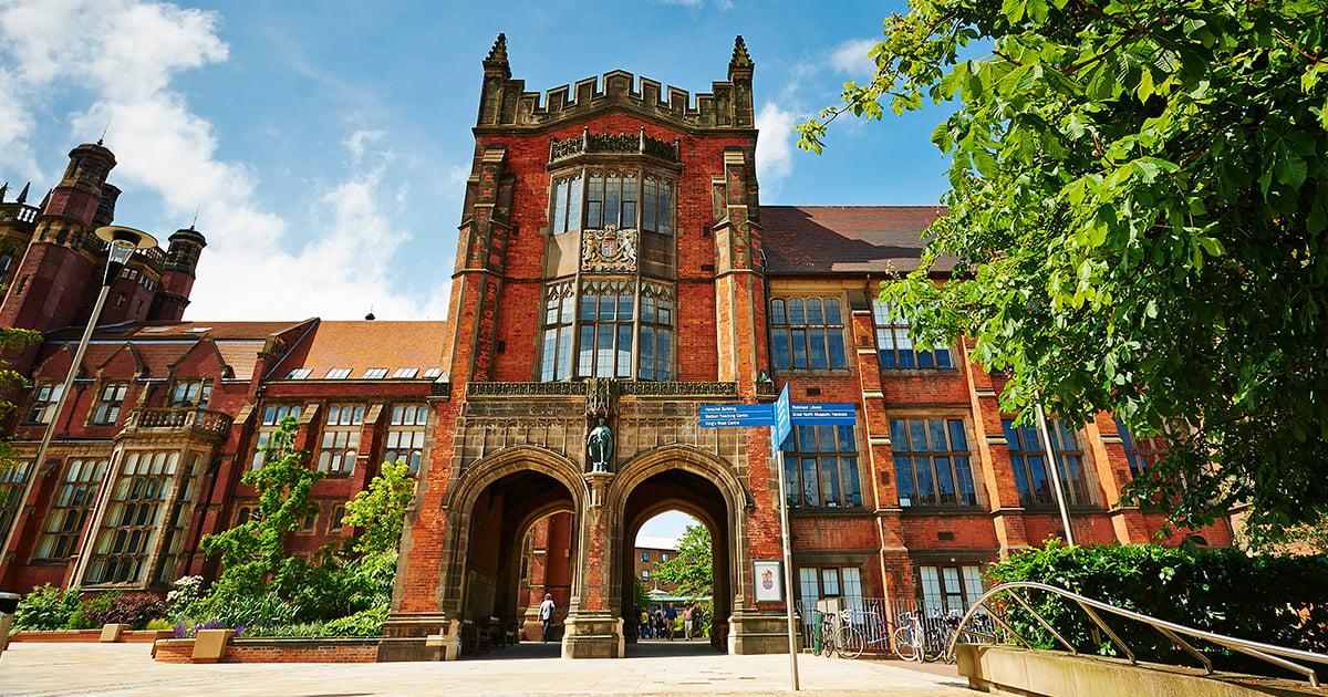 The Newcastle University's redbrick Arches